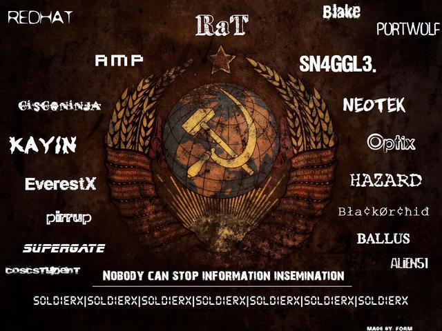 SOLDIERX Communist Wallpaper by FoRM