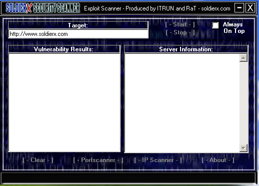 Screen shot from SX Security Scanner